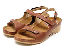 WOLKY Tsunami cafe brown leather sandal size 36 US 5.5 $124