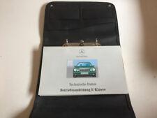 Mercedes clase E W + s 210 manual de instrucciones 1998 bordmappe manual ba