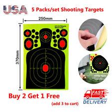 "5pcs 9.5x14.5"" Shooting Targets Reactive Splatter Paper Self-Adhesive Training"