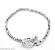 "HOT!!  20X Silver Tone Toggle Clasp Bracelets Fit European Bead 19cm(7-1/2"")"