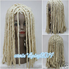 Ladies Wig Dreadlock Wigs Long blonde Curls Hair Cosplay fancy dress Party