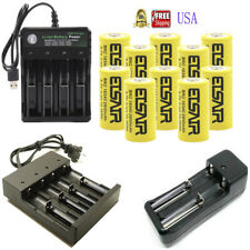 USA 2800mAh 16340 Battery CR123A 3.7V Rechargeable Batteries + Smart Charger