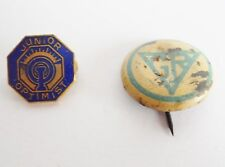 Lot of 2 Vintage Collectible GR Girl Reserve YWCA & Junior Optimist Pins