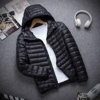 Men's Hooded Puffer Packable Ultralight Hoodie Down Jacket Winter Outerwear Coat