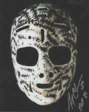 BOSTON BRUINS GERRY CHEEVERS AUTOGRAPH MASK 8X10 PHOTO STANLEY CUP CHAMPION