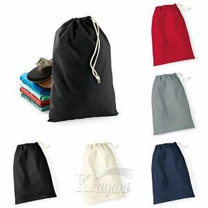 Drawstring Laundry Bag eco bag cotton Plain reusable Storage pouch Washing Gym s