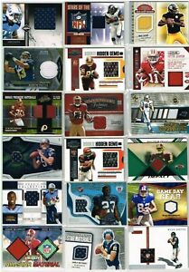NFL Mixed Jersey, Patch, Rookie Patch, SP Jersey Lot of (52) Cards