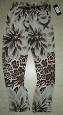 ❤️ $138 GUESS by MARCIANO Hawaiian Animal Floral Poly Vacation Exotic Pants Sz 8