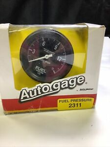 "Auto Meter Fuel Pressure Gauge 2311; Auto Gage 0 to 15 psi 2-5/8"" Mechanical"