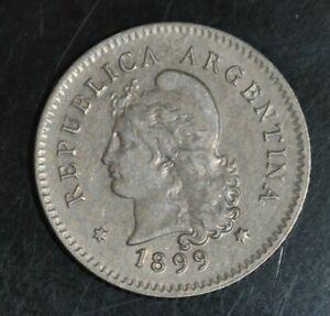 ARGENTINA  10 CENTAVOS  1899 (((2405