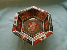 Chinese Red Black And Gold Imari Bowl Red Seal To Base