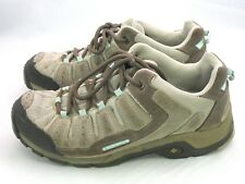 Columbia Pima Leather Hiking Trail Shoes BL3199-221 Brown Blue Women's US 10