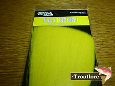 YELLOW FAUX BUCKTAIL FISH SKULL FLYMEN FISHING CO - NEW FLY TYING MATERIALS