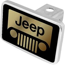 New Jeep Grille Gold Logo Tow Hitch Cover Plug