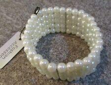 Faux Perle Perles Stretch Bracelet Corsage Poignet Bnwt Mariage Demoiselle d'honneur