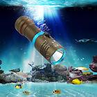 8000LM XM-L L2 LED Scuba Diving Flashlight Torch Hunting Lamp Light Waterproof