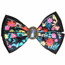 Disney Alice In Wonderland Keyhole Floral Bow Tie Hair Clip Pin Cosplay Dress UP