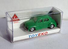 RENAULT 4CV VERDE GREEN 1/87 TOYEKO TOY EKO