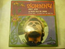 "JOHNNY HALLIDAY""HEY JOE-disco 45 giri EP(4 brani)PHILIPS France 1968 BEAT""RARE"
