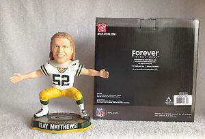 """Clay Matthews """"SACK DANCE"""" Green Bay Packers LIMITED EDITION Bobble Bobblehead"""