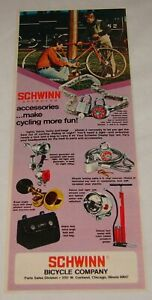 1974 SCHWINN accessories ad ~ MAKE CYCLING MORE FUN
