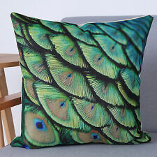 Peacock Fashion Sofa Bed Home Decoration Pillow Case Cushion Cover
