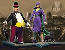DC DIRECT CLASSIC SILVER AGE CATWOMAN AND THE PENGUIN DELUXE ACTION FIGURE SET