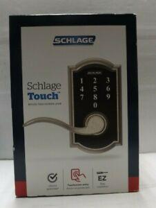 Schlage FE695 V CAM 619 ACC Keyless Door Lock with Lighted Keypad - Satin Nickel