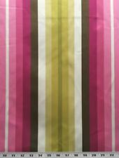 Waverly Chandler Stripe Azalea 100% Polyester Fabric