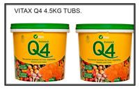 Vitax Q4 Fertiliser for Flowers,Plants,Fruits & Veg 4.5kg Resealable Tubs