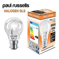 Status 100w BC B22 Clear GLS Halogen Bulbs X 10