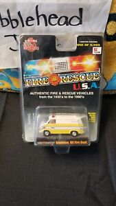 NIB 1999 1/64 RACING CHAMPIONS 1975 CHEVY VAN #15 APPLETON WISCONISN FIRE DEPT