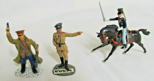 Figures 3 x Lead Soldiers King & Country Russians. Britains W.W.11 Mounted Horse