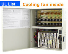 UL List 18 Ports 12V 20A DC Power Supply for 16 CH DVR Security Camera PTC Fuse