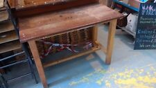 Ex-school science lab bench, solid hardwood, upcycling retro restoration project