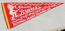 Vintage Milwaukee Braves League Championship 157 Pennant Baseball