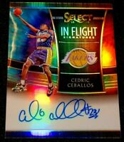 CEDRIC CEBALLOS 18-19 SELECT TIE DYE PRIZM ON CARD AUTO 25/25 LAST CUT 1/1 LAKER