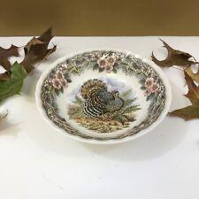 """NEW! Churchill Myott Thanksgiving Turkey 6.5"""" Cereal Bowl"""