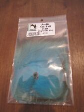 Fly Tying Hareline Arctic Fox Tail Hair - Kingfisher Blue
