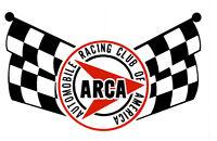 ARCA AUTOMOBILE RACING CLUB OF AMERICA HOT RAT ROD DECAL VINTAGE LOOK STICKER