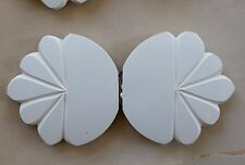 Vintage Buckles - 1950's White French Casein Double Buckle