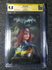 Batman 100 CGC 9.8 SS Trade Variant Signed by Shannon Maer 1st Ghost Maker