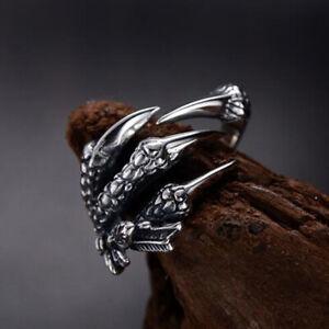 Cool Animal Ring Gothic Stainless Steel Snake Opening Adjustable Women Men CO