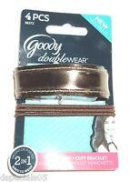 GOODY Doublewear 4 Pcs. Ponytailers  Elastics + Cuff Bracelet COPPER