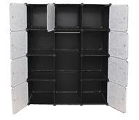 Interlocking Wardrobe Storage Cabinet Organiser - Flower Print Wardrobe