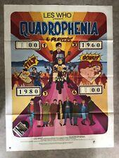 Quadrophenia Affiche Cinéma 1979 First Original Print The Who