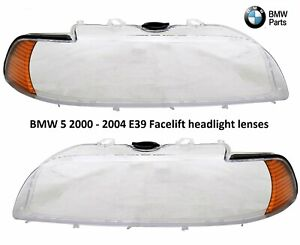 Headlight Lenses Reflector PAIR fits 2001-2003 BMW 5-Series E39