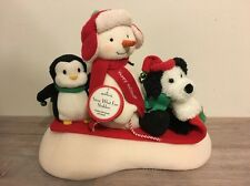 Hallmark Snow What Fun Sledders, Moves & Sings To Song