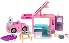 Barbie 3-in-1 DreamCamper Vehicle, approx. 3-ft, Transforming Camper with .