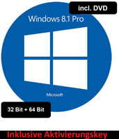 Microsoft Windows 8.1 Professional Aktivierungskey 32+64Bit Deutsch DVD